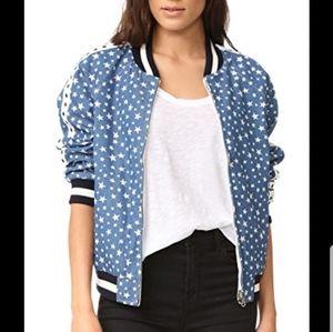 Jocelyn reversible star bomber jacket